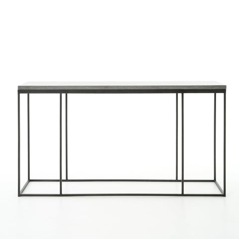 Harlow Console Table In Bluestone Gunmetal
