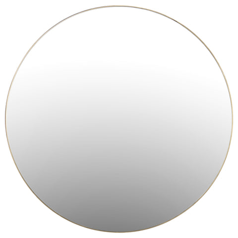 Bellvue Round Mirror in Polished Brass by BD Studio
