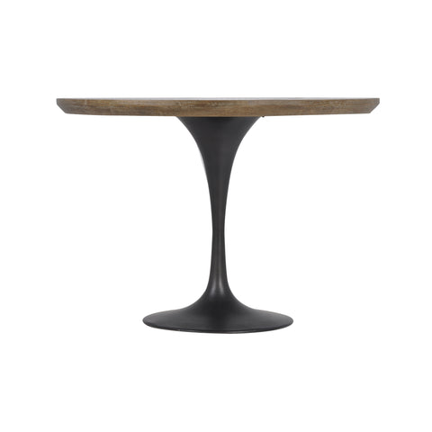 Powell Bistro Table in Bright Brass Clad