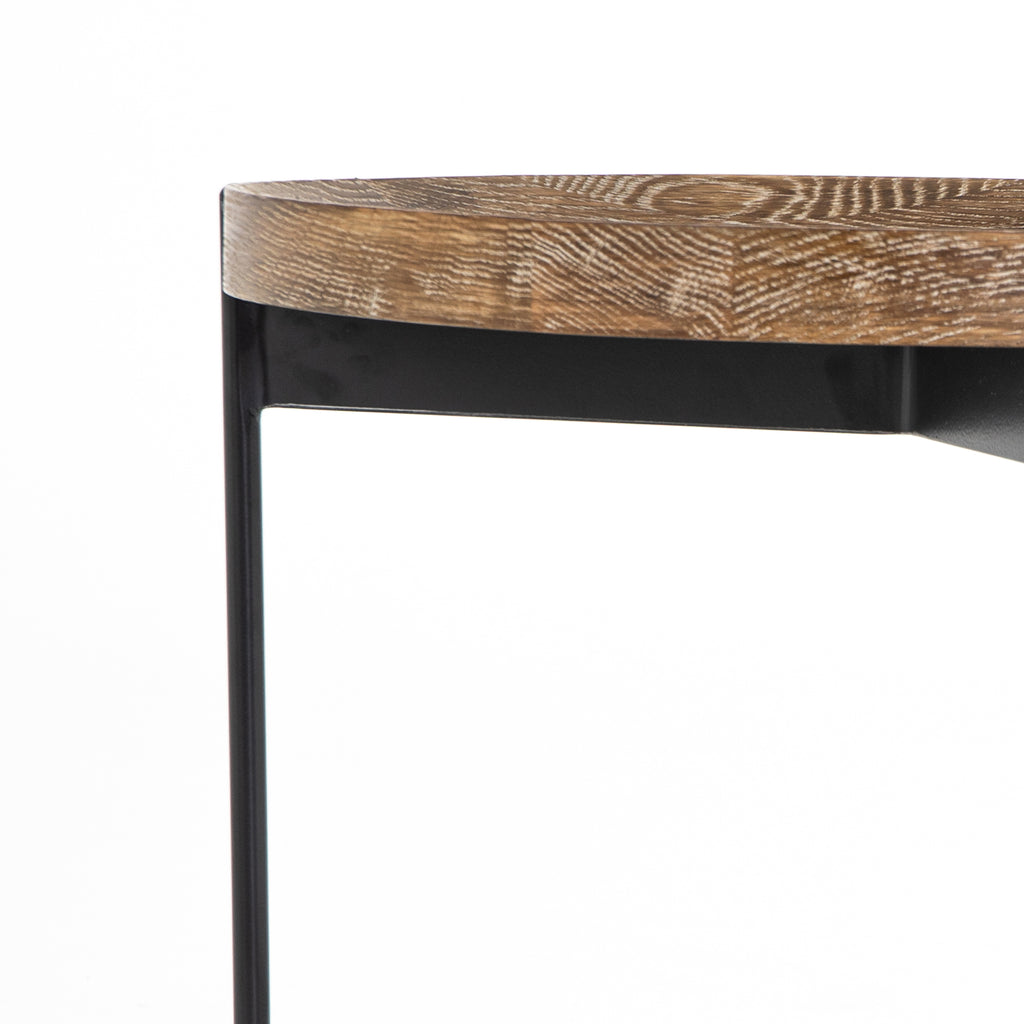 Nathaniel End Table In Powder Black