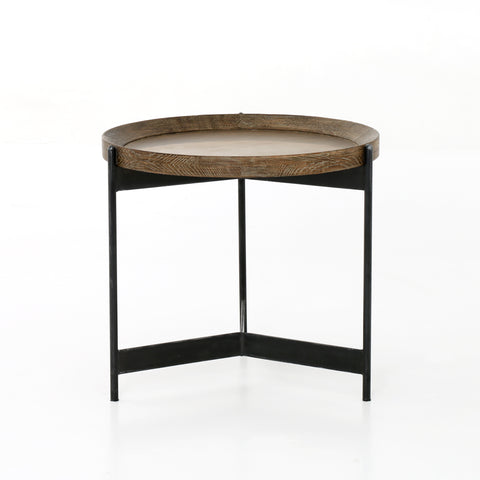Nathaniel End Table in Powder Black by BD Studio