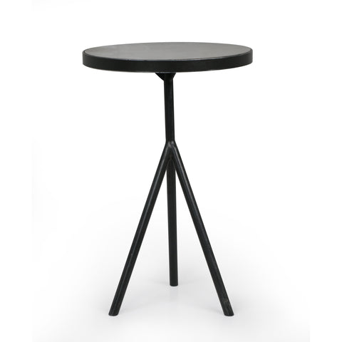 Corin End Table In Powder Black