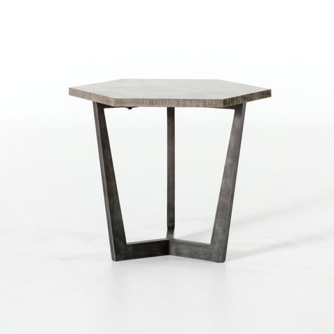 Quentin End Table in Light Rustic Black