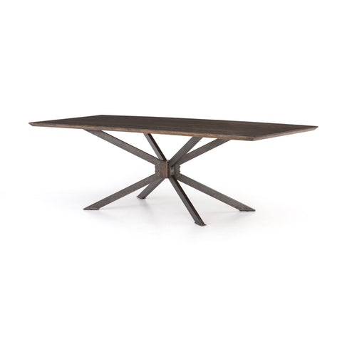"Spider Dining Table 94"" in English Brown Oak design by BD Studio"