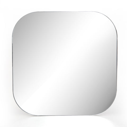 Bellvue Square Mirror in Shiny Steel