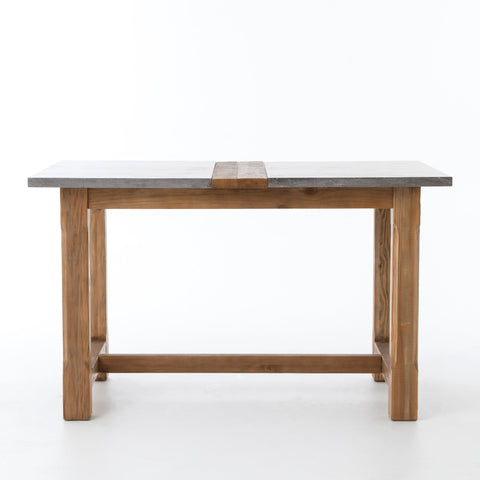 Bluestone Farmhouse Pub Table in Waxed Bleached Pine by BD Studio
