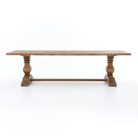 "Durham 110"" Dining Table in Bleached Oak"