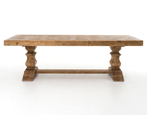Castle Dining Table in Bleached Pine by BD Studio