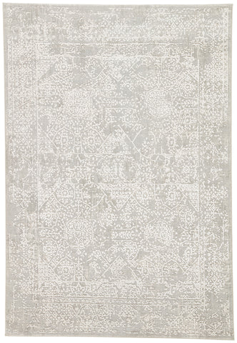 Lianna Abstract Gray & White Area Rug design by Jaipur Living