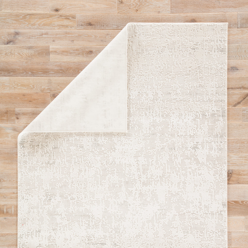 Arvo Abstract Silver & White Area Rug