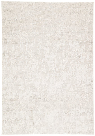 Arvo Abstract Silver & White Area Rug design by Jaipur