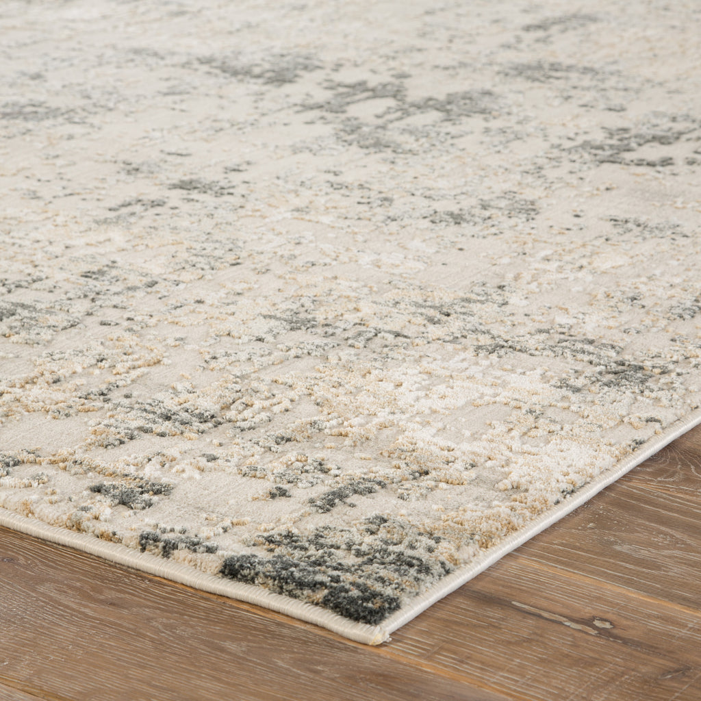 Arvo Abstract White & Dark Gray Area Rug design by Jaipur Living