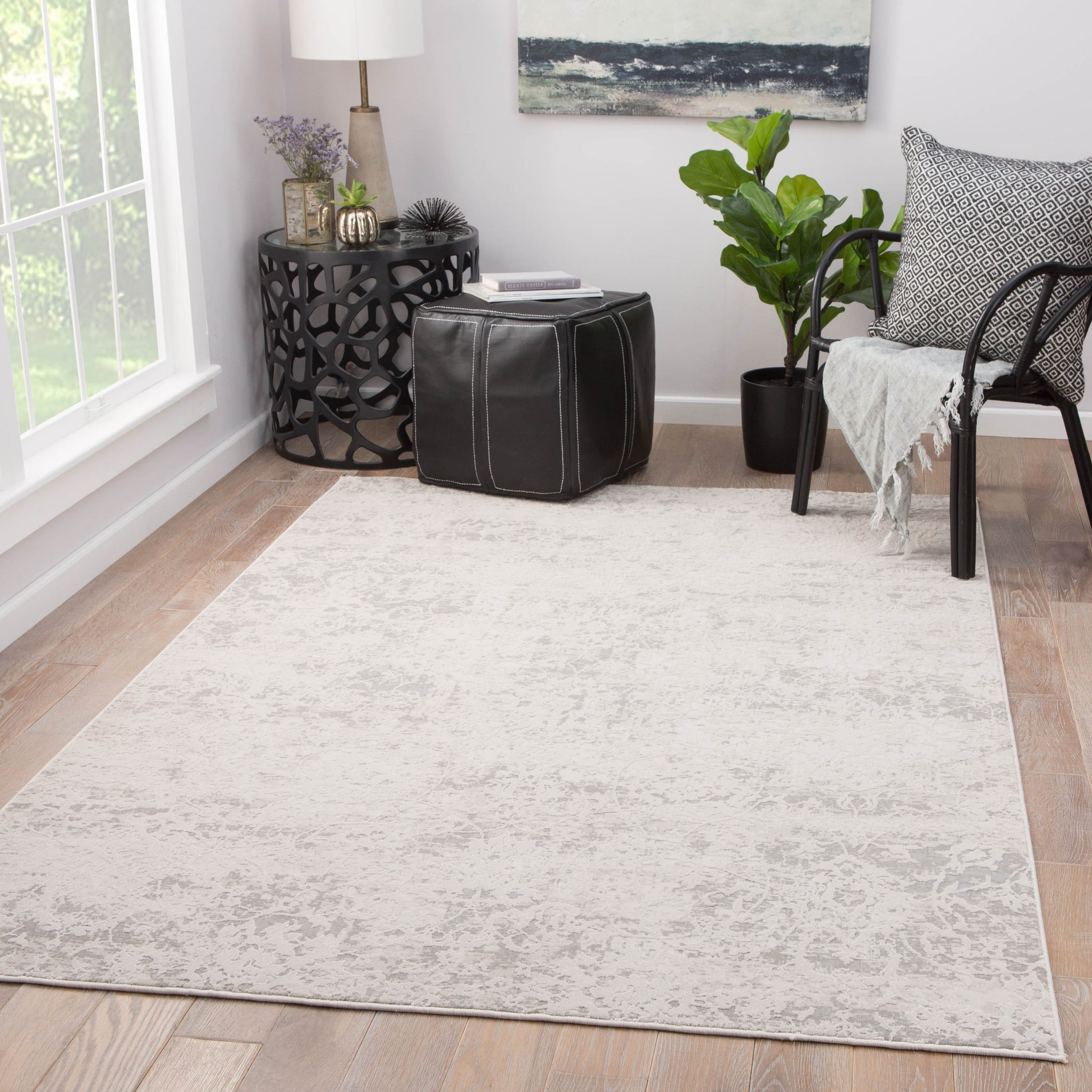 Alonsa Abstract Gray White Area Rug Design By Jaipur Burke Decor