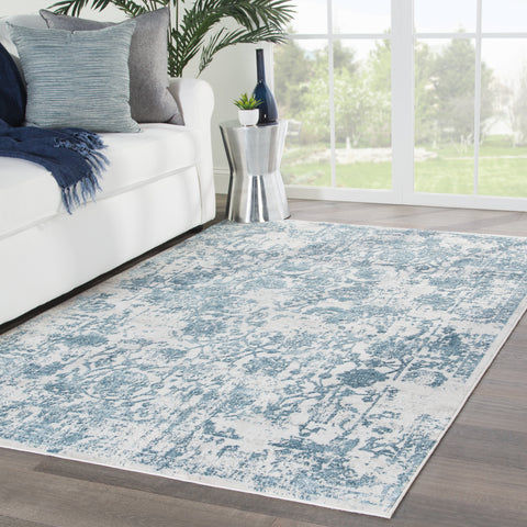 Clara Floral Rug in Moonbeam & String design by Jaipur