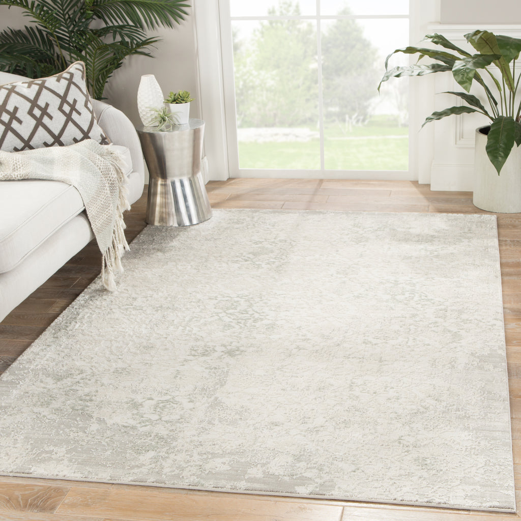 Siena Damask Rug in Elephant Skin & Silver Birch design by Jaipur Living