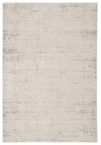 Kata Geometric Rug in Light Gray & Silver Birch design by Jaipur