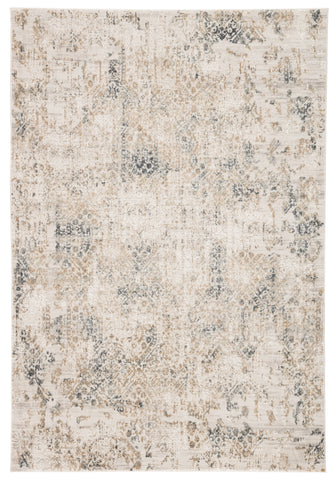 Basilica Geometric Rug in Silver Birch & Medal Bronze design by Jaipur