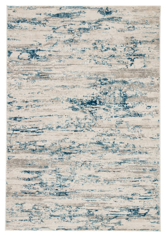Celil Abstract Rug in Silver Birch & Bluestone design by Jaipur