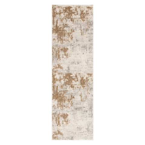 Resa Abstract Gray & Gold Area Rug