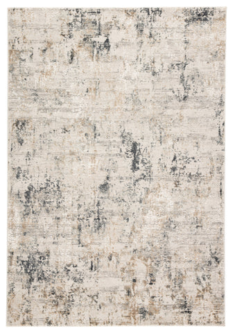 Cassia Abstract Gray & Gold Area Rug