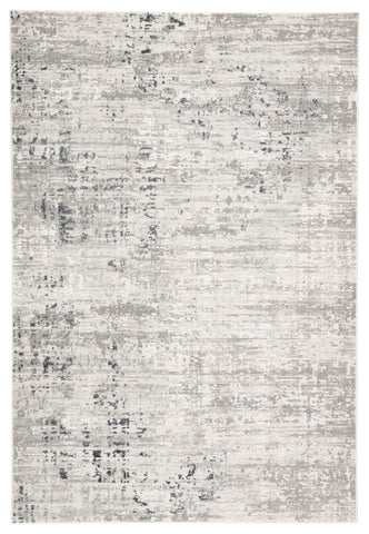 Cian Abstract Gray & Ivory Area Rug