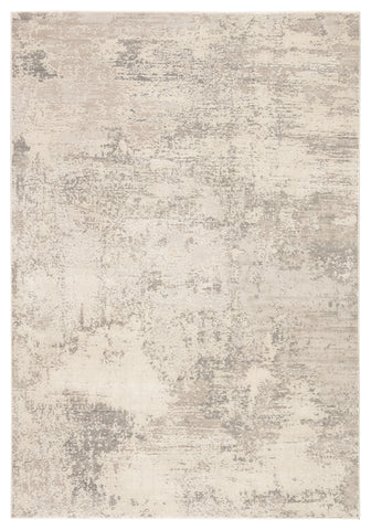 Brixt Abstract Gray/ Ivory Rug by Jaipur Living