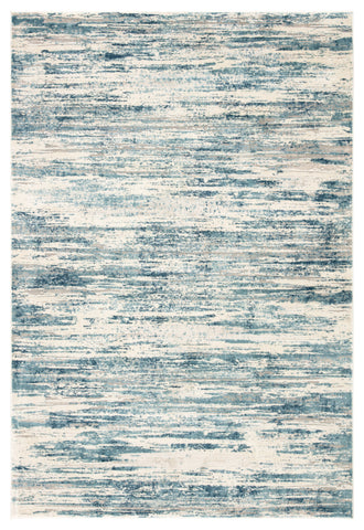 Heaston Abstract Blue & Ivory Area Rug