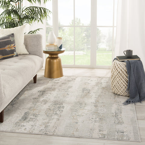 Jaspal Tribal Gray/ White Rug by Jaipur Living