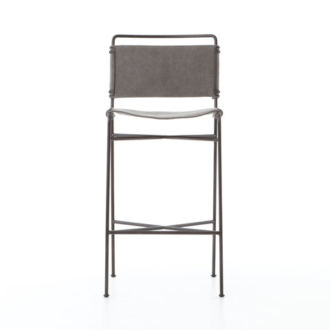 Wharton Bar + Counter Stools in Stonewash Grey Canvas by BD Studio