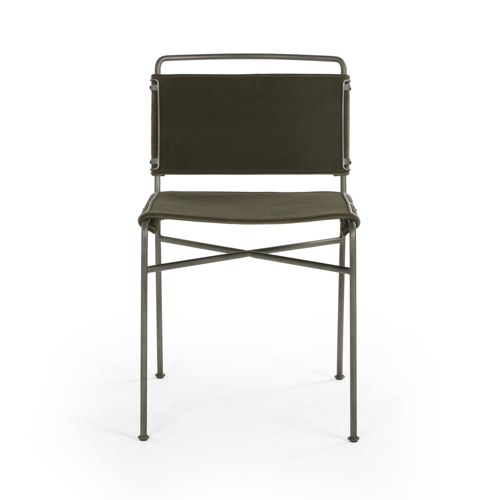 Wharton Dining Chair in Modern Velvet Loden by BD Studio
