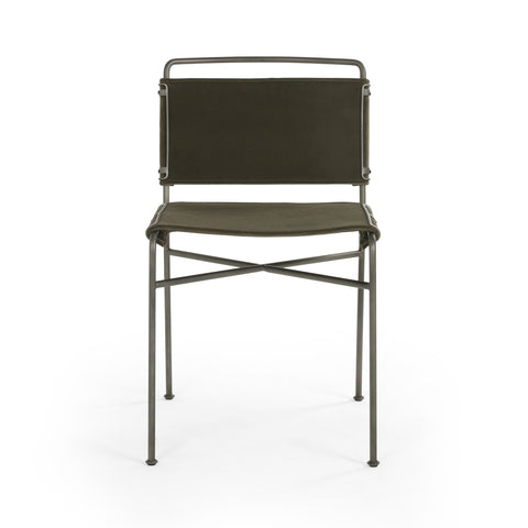 Wharton Dining Chair in Modern Velvet Loden design by BD Studio