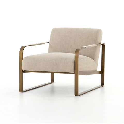 Jules Chair in Stonewash Print Ecru by BD Studio