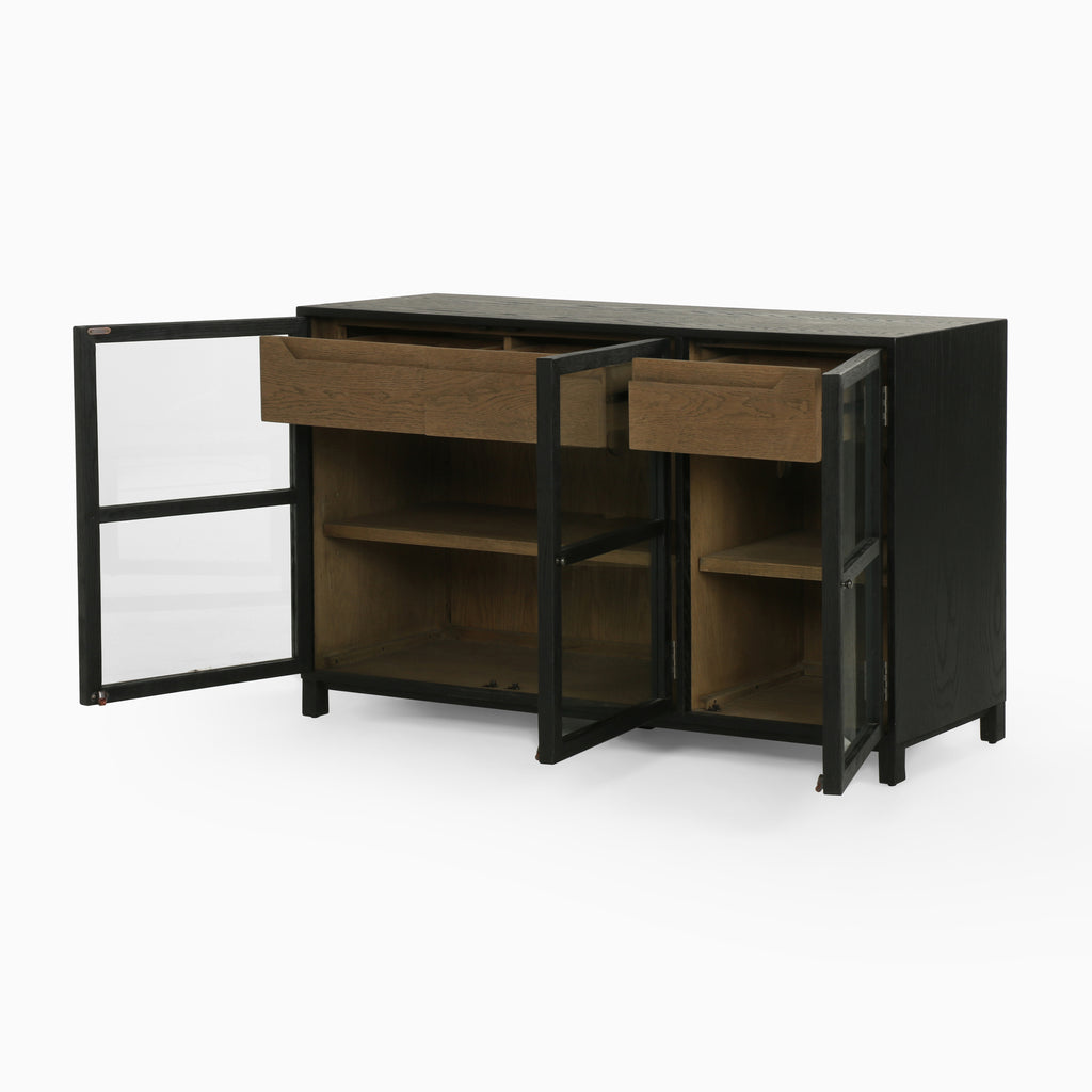 Millie Sideboard In Drifted Black