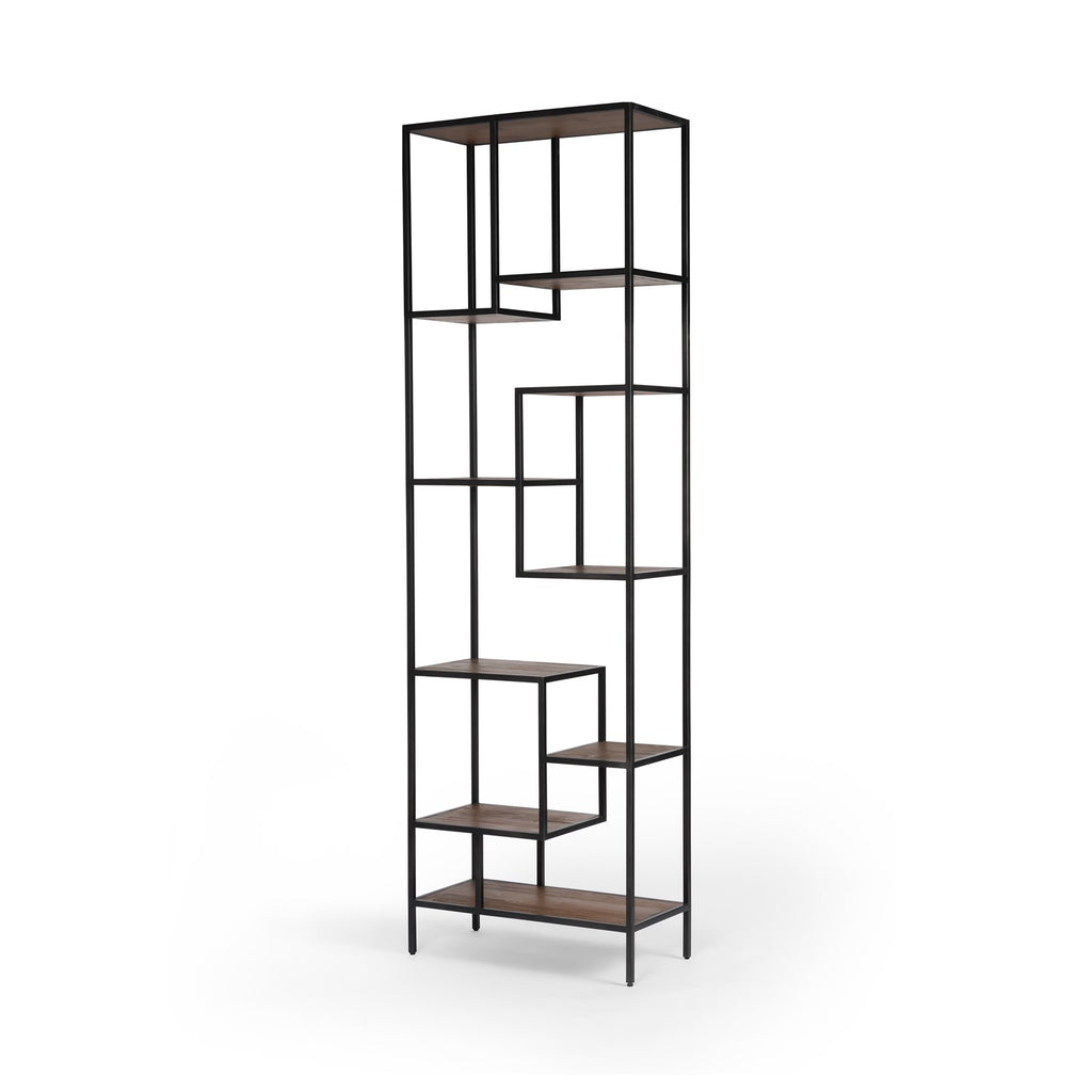 Helena Large Bookcase in Waxed Black