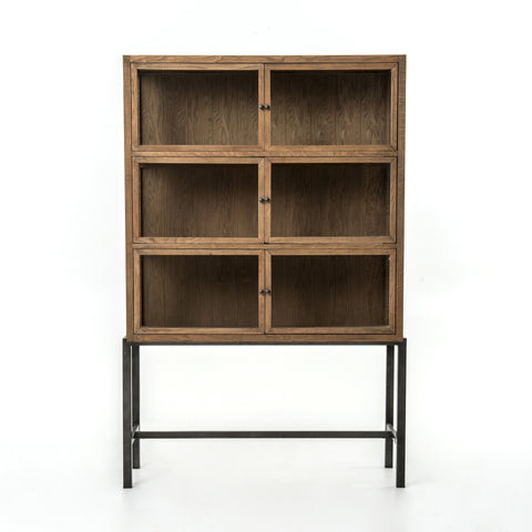 Spencer Curio Cabinet In Drifted Oak