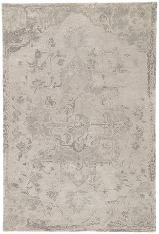 Sasha Medallion Rug in Pumice Stone & Steeple Gray design by Jaipur