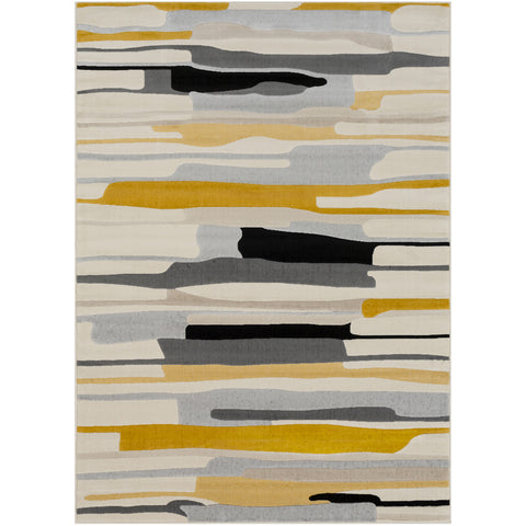 City Rug in Mustard & Black