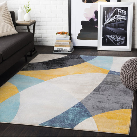 City CIT-2347 Rug in Aqua & Light Gray by Surya