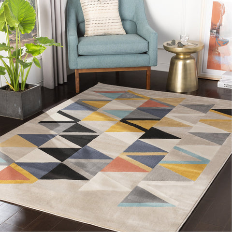 City CIT-2350 Rug in Mustard & Aqua by Surya