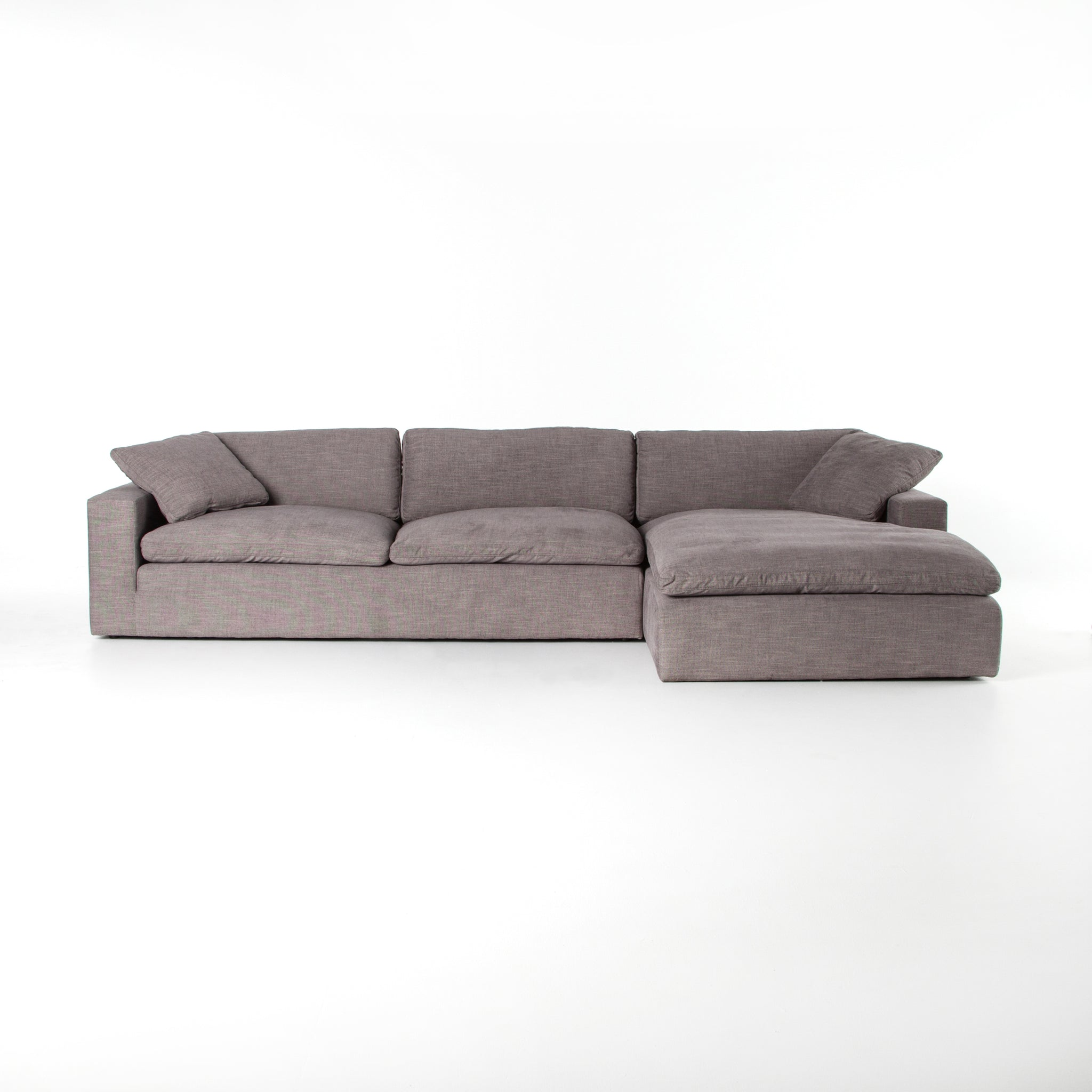Plume 2 Piece Sectional In Harbor Grey Burke Decor