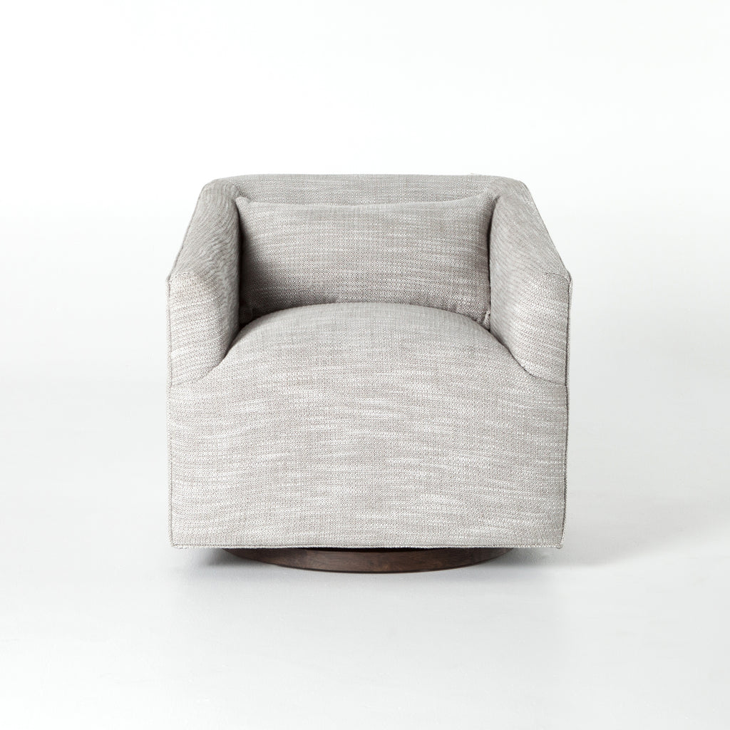 York Swivel Chair in Monterry Pebble