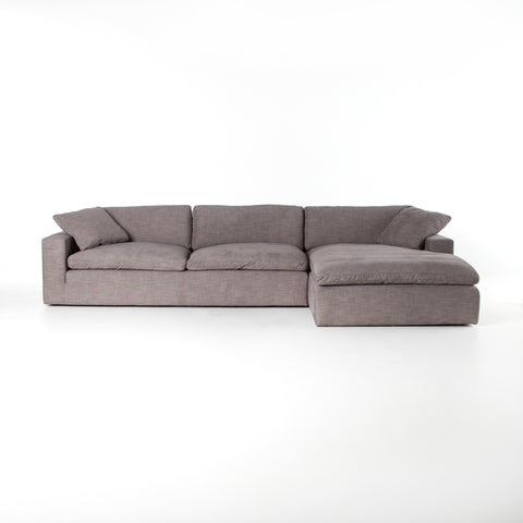 "Plume 2 Piece 106"" Sectional in Harbor Grey"