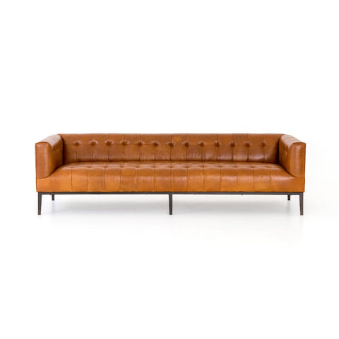 Marlin Leather Sofa in Manhattan Sycamore