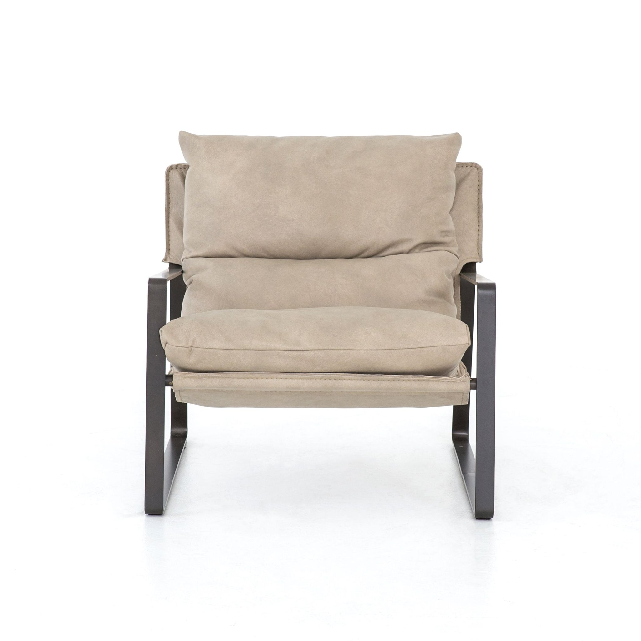 Emmett Sling Chair In Umber Natural Burke Decor