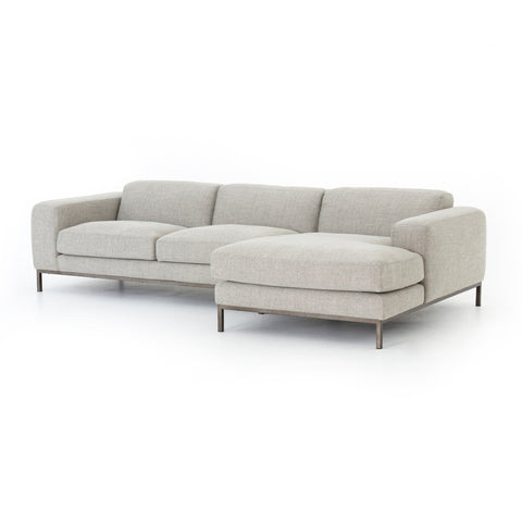 Benedict 2-Piece Sectional in Gabardine Grey