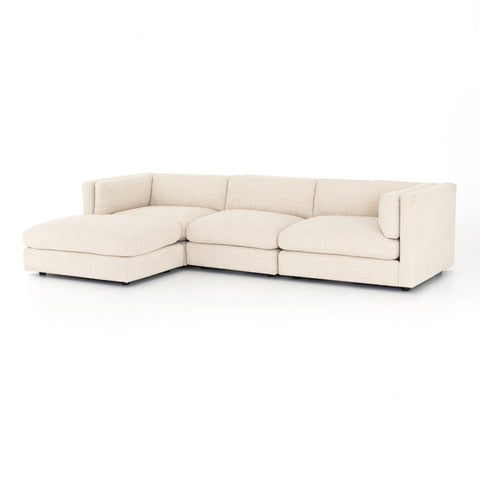 Cosette 3 Piece Sectional with Ottoman