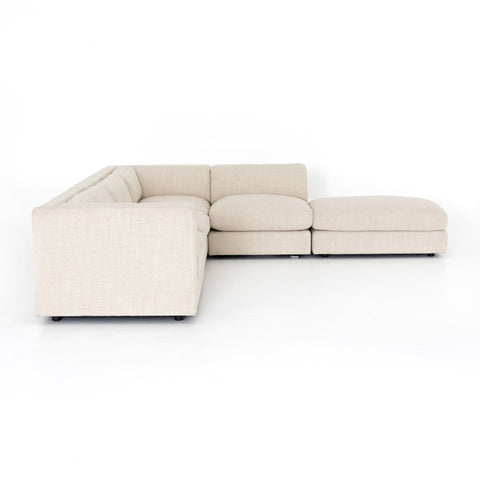 Cosette 4 Piece Sectional with Ottoman