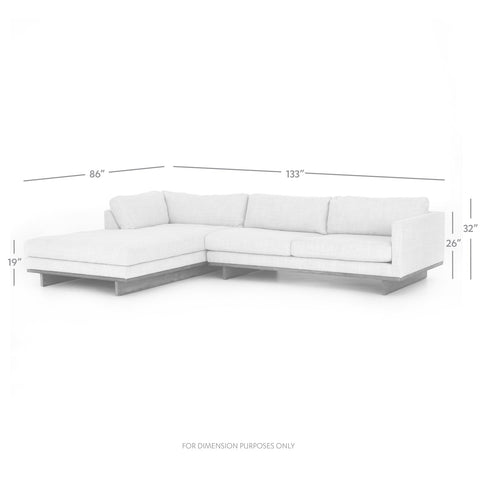 Everly 2-Piece Sectional in Various Sizes