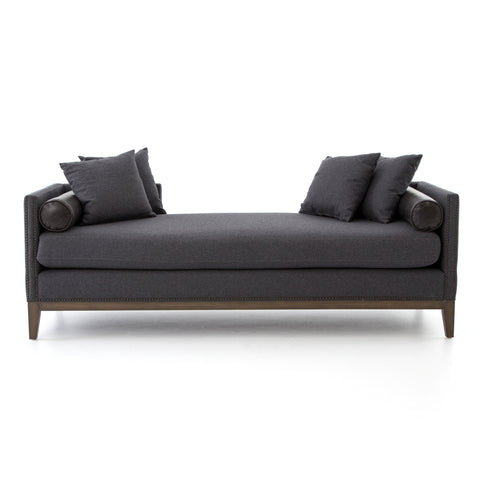 Mercury Double Chaise in Charcoal Felt by BD Studio