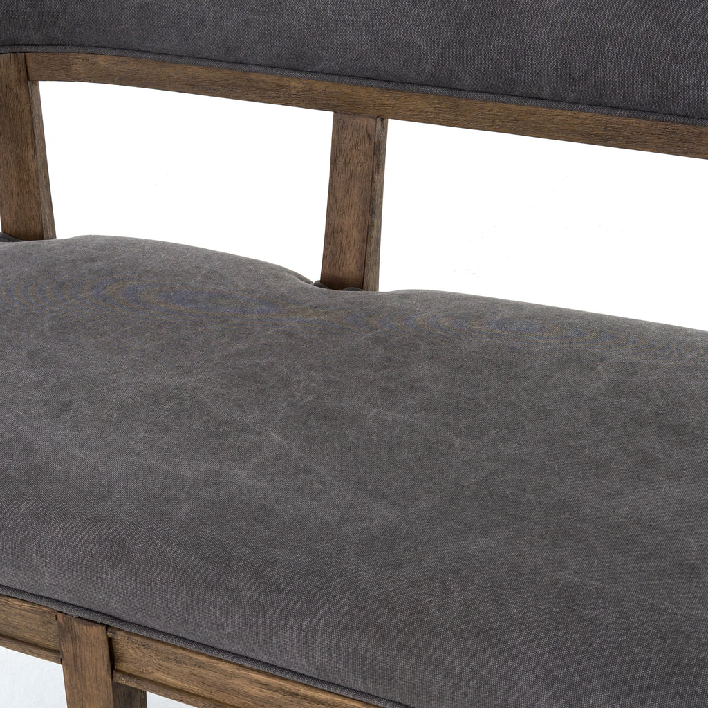 Carter Dining Bench in Dark Moon Canvas